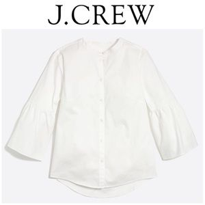 J. Crew cotton bell sleeve top S
